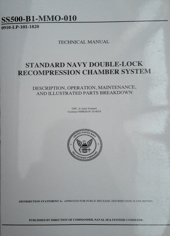 STANDART NAVY DOUBLE-LOCK RECOMPRESSION CHAMBER SYSTEM